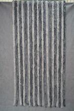 Flauschvorhang Grau/Weiss 90 x 200 Cm Vorhang Türvorhang Insektenschutz Garten