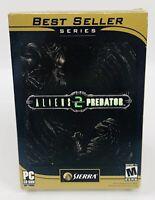 Aliens vs Predator 2 AvP2 PC 2001 Best Seller Series Sierra BRAND NEW SEALED