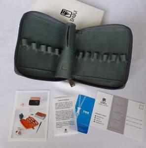 Shibui 12 Pen Case in Ocean Blue - Genuine Leather - NEW in Box