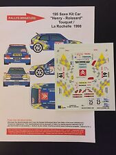 DECALS 1/43 CITROEN SAXO KIT-CAR PATRICK HENRY RALLYE DU TOUQUET 1998 RALLY