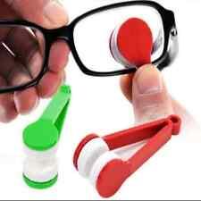 Useful Mini Glasses Eyeglass Sunglasses Spectacles Microfiber Cleaner Brush New