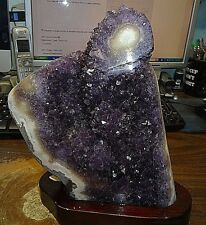 AMETHYST CRYSTAL CLUSTER  GEODE FROM URUGUAY CATHEDRAL STALACTITE BASE;