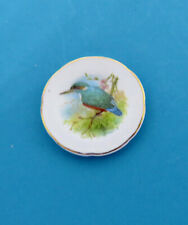 Dollhouse Miniature 1:12 Stokesay Ware Porcelain Plate - Kingfisher