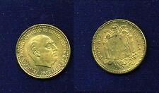 SPAIN  1953 (54)  1 PESETA COIN, UNCIRCULATED, SCARCE DATE!
