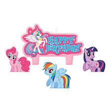 4 Piece My Little Pony Friendship Happy Birthday Party Cake Decoration Candles