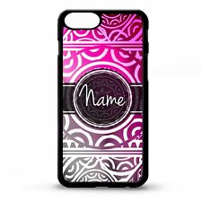 Tribal polynesian aztec mayan pink pattern personalised name phone case cover