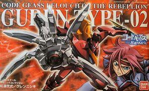 Bandai 1/35 Guren Type-02 Code Geass Lelouch of the Rebellion Plastic Model Kit