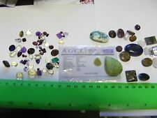 Large lot of 79 Genuine Natural  Gemstones,wide variety,large & small.