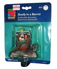 Penn Plax Disney Goofy in a Barrel Collectible Aquarium Ornament MMO-3