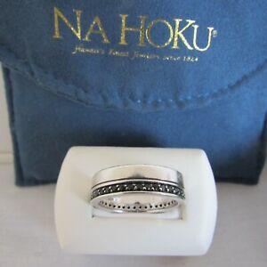 Effy Black Sapphire Sterling Silver Ring Men's 10