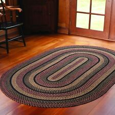 BLACKBERRY OVAL BRAIDED RUGS 5 x 8 IHF