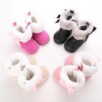 Winter Warm Newborn Baby Toddler Girls Fur Snow Boots Crib Shoes Prewalker 0-18M