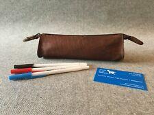 Leather Pencil Case PC Buffalo Handmade YKK Student Art Draw Billy Goat Designs