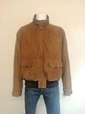 Ralph Lauren Polo 100% Goatskin Suede Harrington. Check lining and Talon Zippers