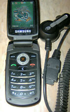 Used Samsung Sgh-C417 Flip Phone tested gOod Cingular At&T + Car Charger
