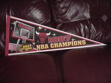 VINTAGE Chicago Bulls 1997 NBA Champions 29 Inch Pennant, SUPER NICE!!