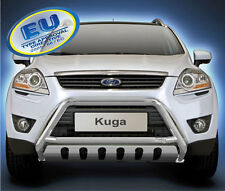 PARE BUFFLE FORD KUGA HOMOLOGUE INOX Ø 60mm  avec Plaque de protection