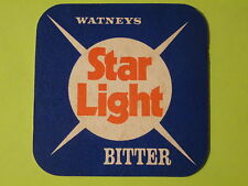 Beer Coaster Mat ~ Watneys Star Light Bitter ~ Sleeman Brewing & Malting Company