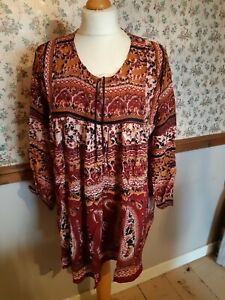 Indian tunic top Smock Boho Style New Free size