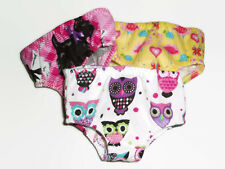 """Lot of 3 pairs flannel Underwear 18"""" Doll Clothes fits American Girl Doll"""