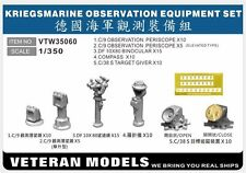 VETERAN 1/350 VTW-35060 GERMAN NAVAL KRIEGSMARINE OBSERVATION EQUIPMENT SET