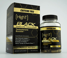 High T Black Caffeine Free Testosterone Booster Pre Workout Hardcore Formulation