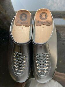 Bastad Troentorps NWOT Black Braided Leather Swedish Clogs 40 Women Shoes 9 1/2