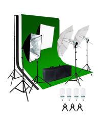 Photr 4000W Kit de iluminación de fondo de estudio fotográfico softbox paraguas Bombilla Soporte Set
