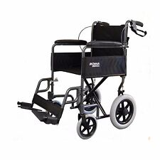 Roma Medical 1235 Lightweight Car Transit Wheelchair - Red or Silver