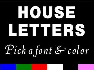 CUSTOM HOUSE LETTERS Vinyl Sticker decal - ONE LETTER