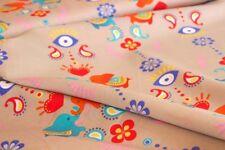 Webware Baumwolle Elefanten India Orient Dekostoff *** 50 cm x 150 cm ***