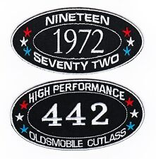 1972 OLDSMOBILE CUTLASS 442 SEW/IRON ON PATCH EMBLEM BADGE EMBROIDERED