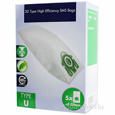 5 x 3D Hyclean U Type Hoover Bags For MIELE S7 Tango S7 Twist Vacuum Cleaner