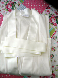 Hanro Switzerland Cotton & Silk Ivory Robe Nightgown, Size XS - NEW WITHOUT TAGS