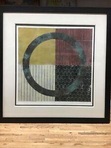 "Karen Musmeci Artist Original Paper / Copper Metal Circle  27""X 28"" Nice!!"
