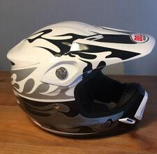 "Bell Helm Moto-8 Motorcross / Dirtbike Moto 8k ""fire silver frg"" NEW OVP Gr.M"