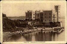 Triest Trieste Italien Italia Friaul-Julisch Venetien 1920 Castello Miramar Burg