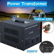 Heavy Duty 5000W Voltage Converter Volt Transformer Step Up/Down 220V to 110V
