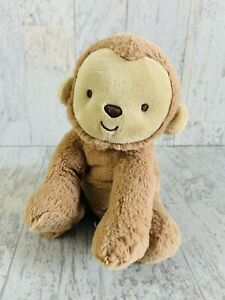 Carters Child Of Mine Brown Plush Sitting Monkey Rattle Baby Toy Lovey 62284
