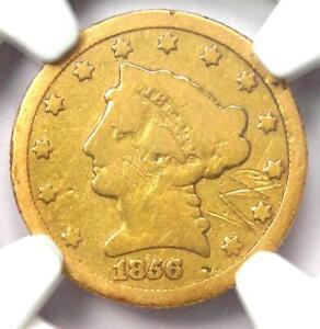 1856-C Liberty Gold Quarter Eagle $2.50 Charlotte. Certified NGC Good Details
