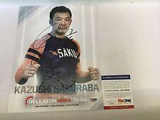 Kazushi Sakuraba Signed Promotional Photo PSA DNA COA c