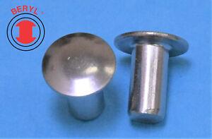 "Stainless Steel Truss Head Solid Rivets - 3/16""X3/8"" THSR316380 - 100pcs"
