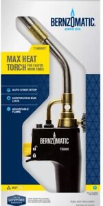 Blow Torch Bernzomatic TS8000 Adjustable Swirl Flame Brazing Soldering Plumber