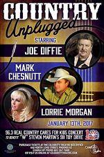 "JOE DIFFIE / MARK CHESNUTT ""COUNTRY UNPLUGGED"" 2017 PHOENIX CONCERT TOUR POSTER"