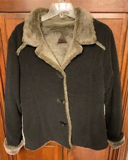 Fjall Women M Button Up Coat Jacket Wool Blend USA Made