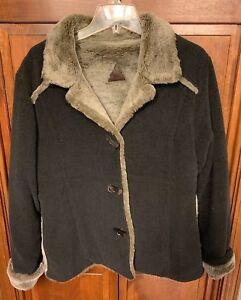 Fjall Women M Button Up Coat Jacket Wool Blend USA Made