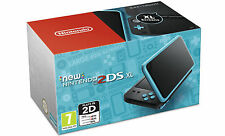 Nintendo NEW 2DS XL Console Black & Turquoise PAL *NEW*