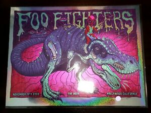 Jim Mazza Foo Fighters Sparkle Foil Poster Sold Out Rare 2020