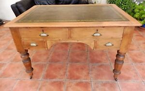 RUSTIC PINE  PARTNERS  DESK / LIBRARY TABLE 1880  FREE SHIPPING ENGLAND
