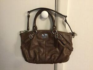 COACH Bag Brown - Madison Leather Sophia Satchel Bag #15960